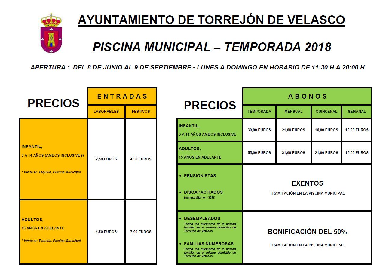 Inicio for Precio piscina municipal